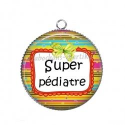Pendentif Cabochon Argent - super pédiatre