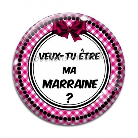 Veux Tu Etre Ma Marraine Texte cabochon verre - veux-tu être ma marraine - cabochons martika