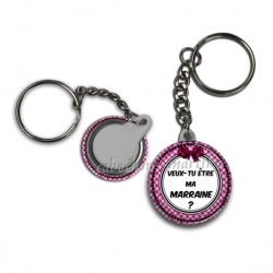 Porte clés - veux-tu être ma marraine