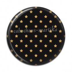 Cabochon Résine - étoile dorée