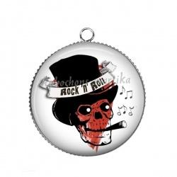 Pendentif Cabochon Argent -  Rock'n'Roll