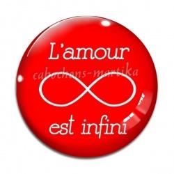 Cabochon Verre - l'amour est infini