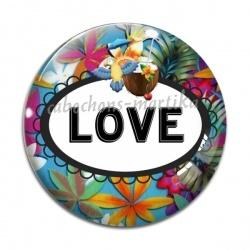 Cabochon Verre - love
