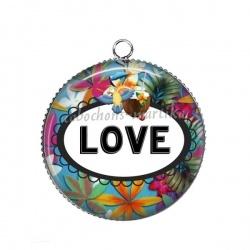 Pendentif Cabochon Argent - love
