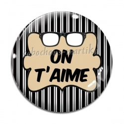 Cabochon Verre - on t'aime
