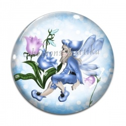 Cabochon Verre - petite fille ange