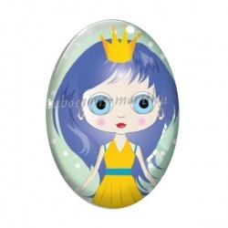 Cabochon Verre Ovale - petite fille