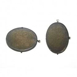 support pendentif pour cabochon 40x30 mm métal bronze