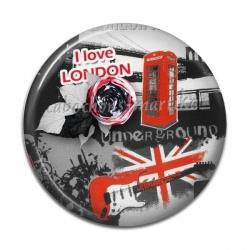 Cabochon Résine - i love london