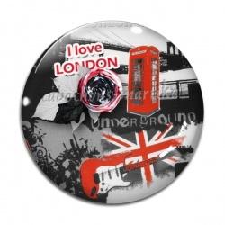 Cabochon Verre - i love london