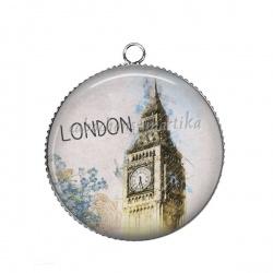 Pendentif Cabochon Argent - london