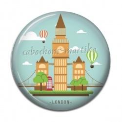 Cabochon Résine - london