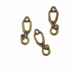 1 pendentifs breloque stéthoscope métal bronze