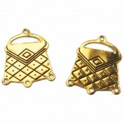 1 connecteur chandelier sac à main doré