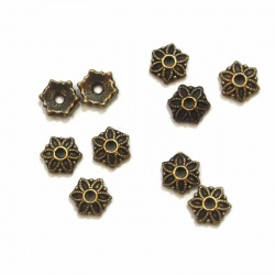 10 COUPELLES,CALOTTE BRONZE 8,7 MM