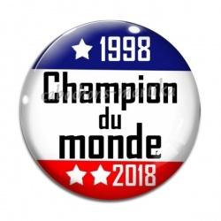Cabochon Verre - champion du monde