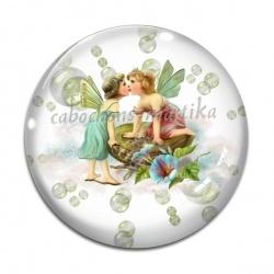 Cabochon Verre - ange