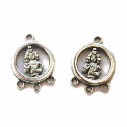 connecteurs chandeliers méditation métal argenté