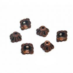 20 coupelles 8 mm couleur cuivre synthétique