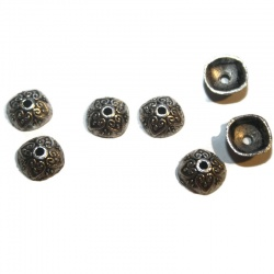 coupelles 10 mm métal argent
