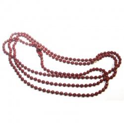 1 chaine 70 cm bille rouge bordeaux avec fermoir