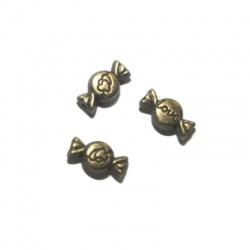 10 perles bombon métal bronze