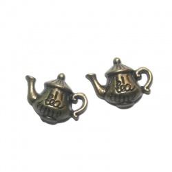 breloque theillière métal bronze