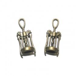 1 breloque tire bouchon métal bronze