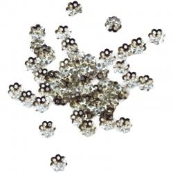 100 coupelles métal 6 mm argenté