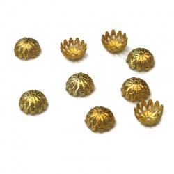 20 Coupelle,Calotte doré 9 mm