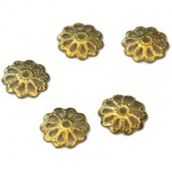 50 Coupelles,Calottes doré 7 mm