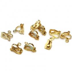 10 clips boucles d'oreilles doré