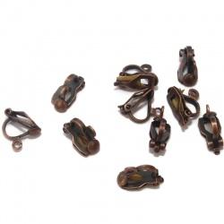 10 clips boucles d'oreilles cuivre