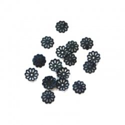 30 Coupelles Calottes argent 6 mm