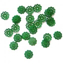 30 Coupelles Calottes vert 6 mm