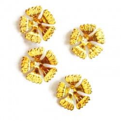 10 Coupelles Calottes doré 17 mm