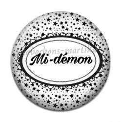 Cabochon Résine - mi-démon
