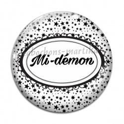 Cabochon Verre - mi-démon