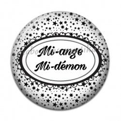 Cabochon Résine - Mi-ange,Mi-démon