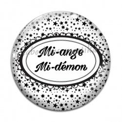Cabochon Verre - Mi-ange,Mi-démon