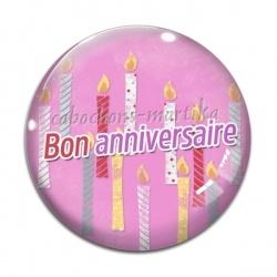 Cabochon Verre - bon anniversaire