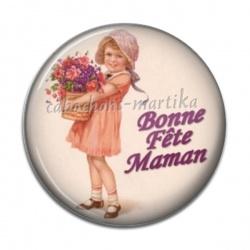 Cabochon Résine - bonne fête maman