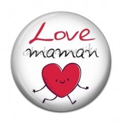 Cabochon Résine - love maman