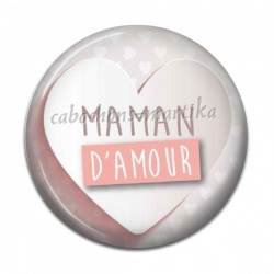 Cabochon Résine - maman d'amour