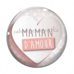 Cabochon Verre - maman d'amour