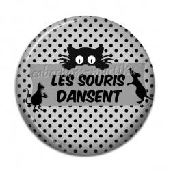 Cabochon Résine - les souris dansent