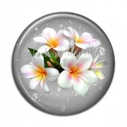 Cabochon Résine - orchidée