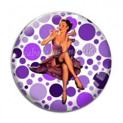 Cabochon Verre - pin up