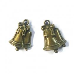 breloques cloches de noël métal bronze