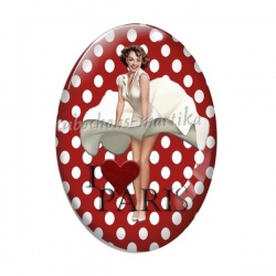 Cabochon Verre Ovale - pin up a Paris